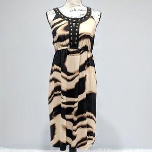 Alfani Petite Animal Print Sleeveless Dress Large